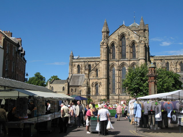 hexham marketplace and abbey