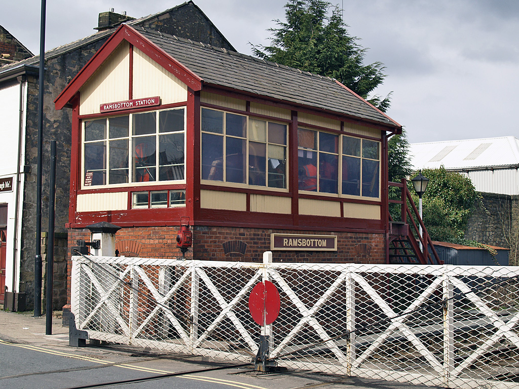Ramsbottom signal box on the East Lancashire Railway