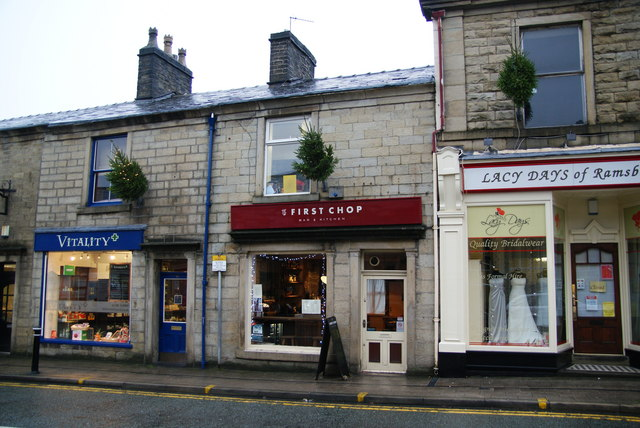 The First Chop, Ramsbottom., selling its own handcrafted bottle beers.
