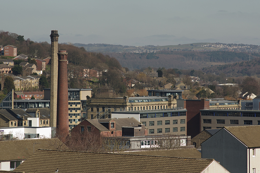 Shipley Town Centre from Bradford Road