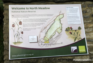 Cricklade in Wiltshire Information board for the North Meadow Nature Reserve © www.visitwiltshire.o.uk