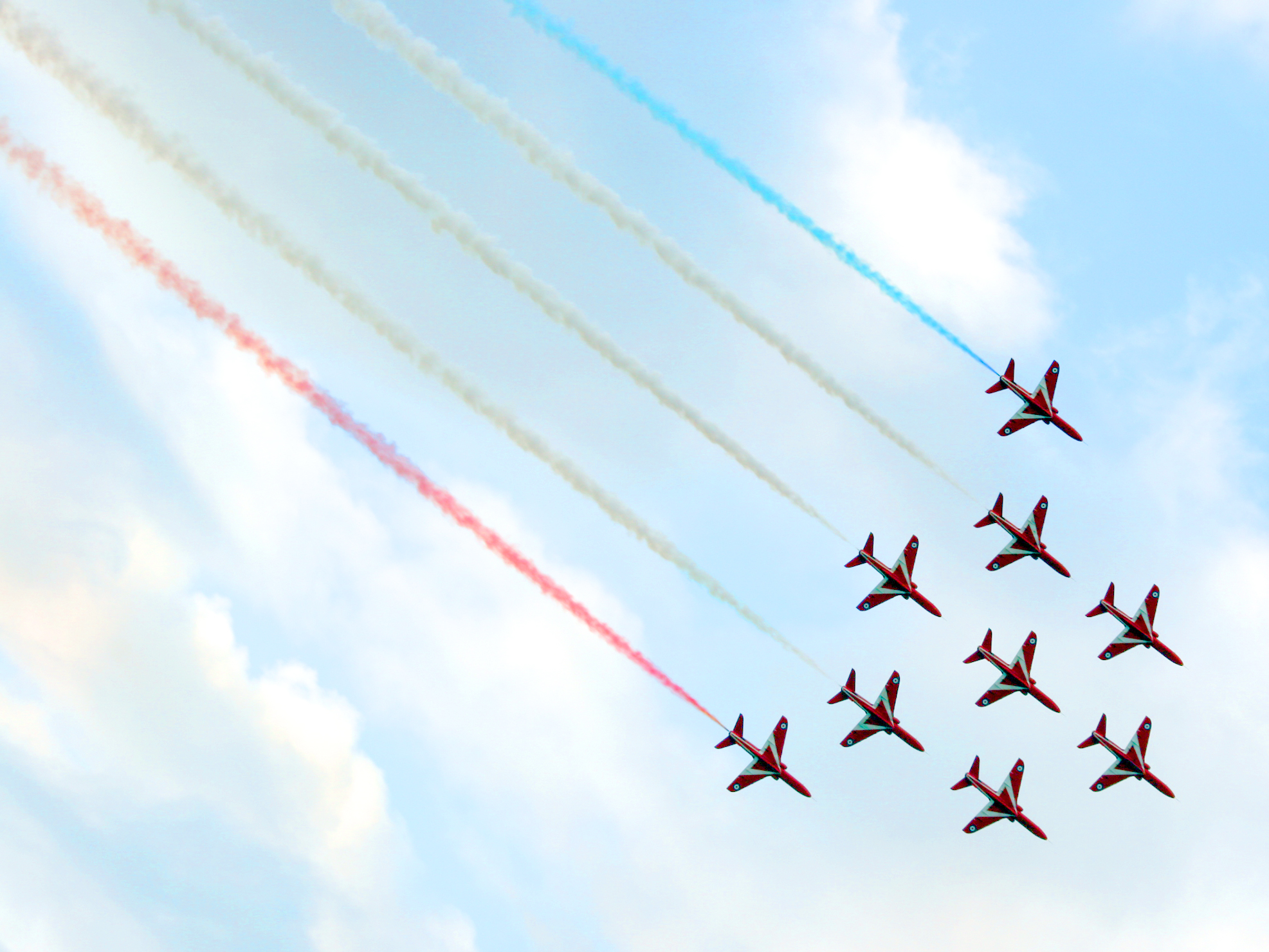 The Red Arrows in formation at southport Air show © Visit Southport