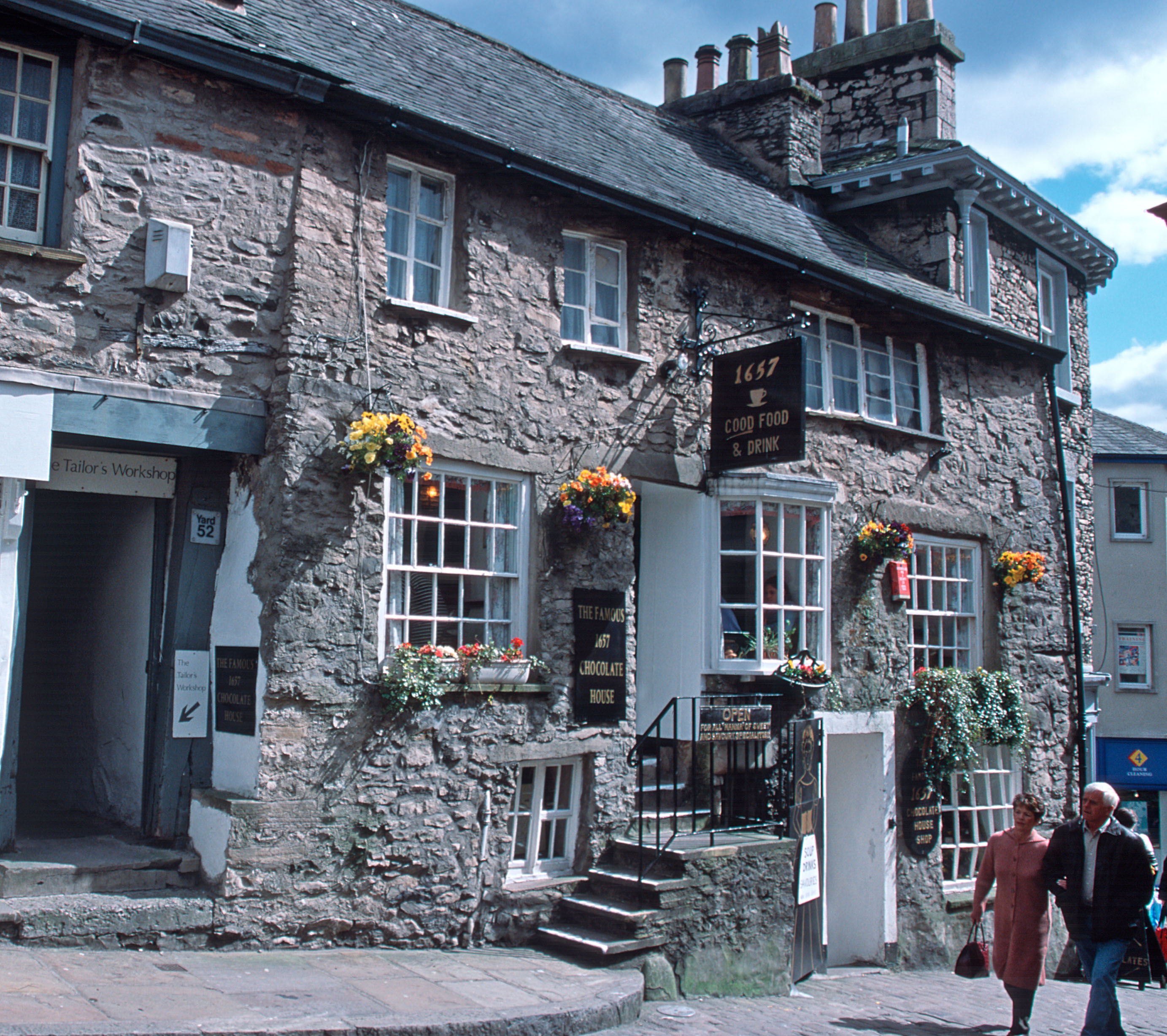 The Chocolate House in Kendal. The cafe is in one of Kendal's oldest buildings dating back to 1657.