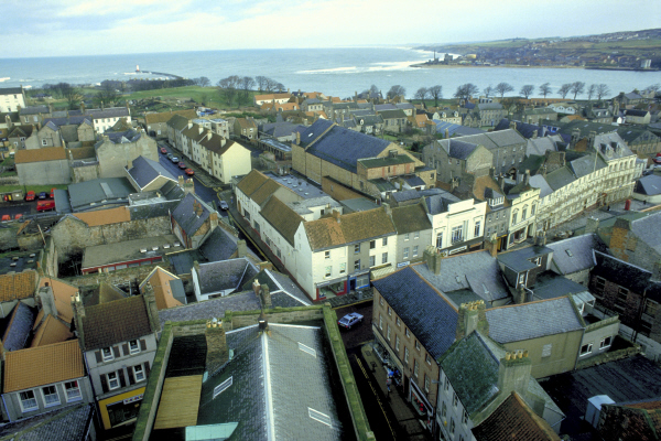 An aerial view of Berwick-on-Tweed