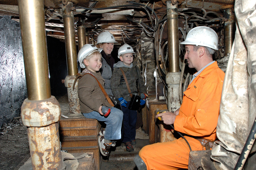 family visit to © Welcome to Yorkshire National Coalmining Museum Wakefield