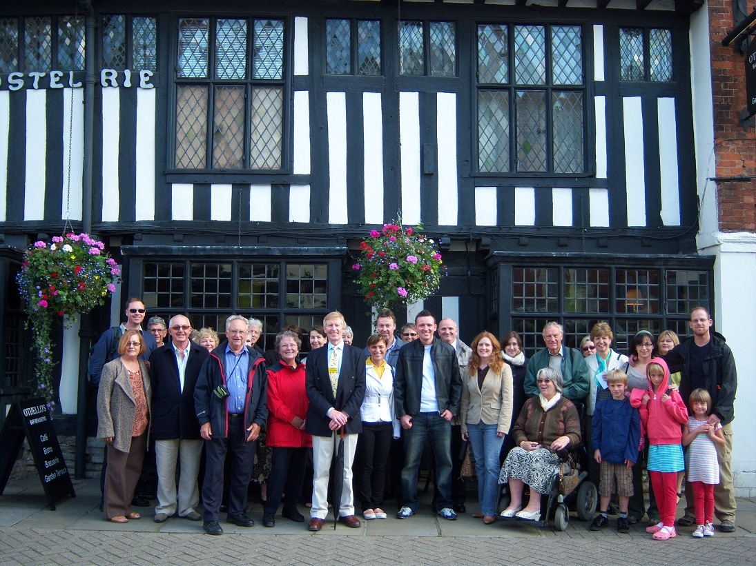 Visitors assembles for an accessible tour of Stratford