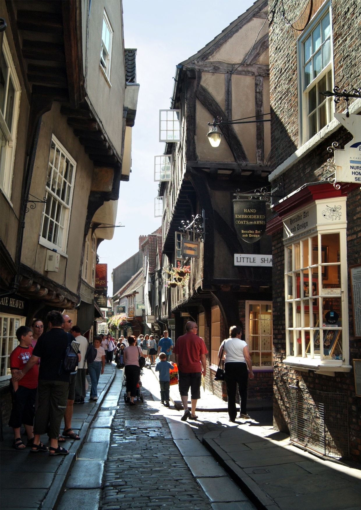 Shopping in the medieval shoppig street, the Shambles. Betty's © Jim Richardson/Visit York