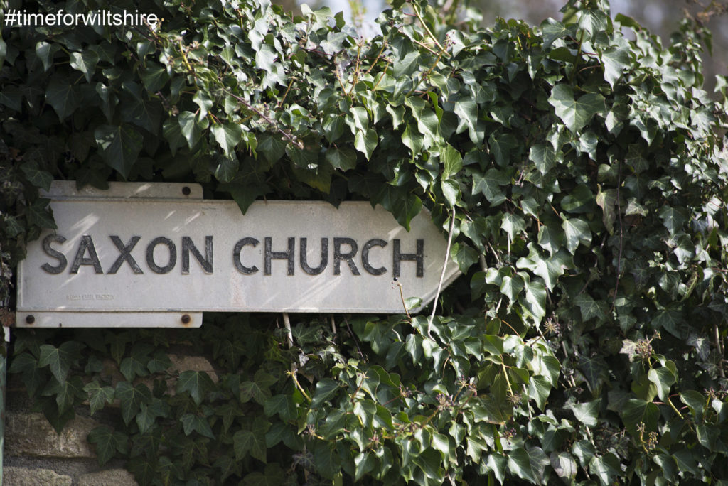 A sign pointing to the Saxon Curch ©visitwiltshire.co.uk