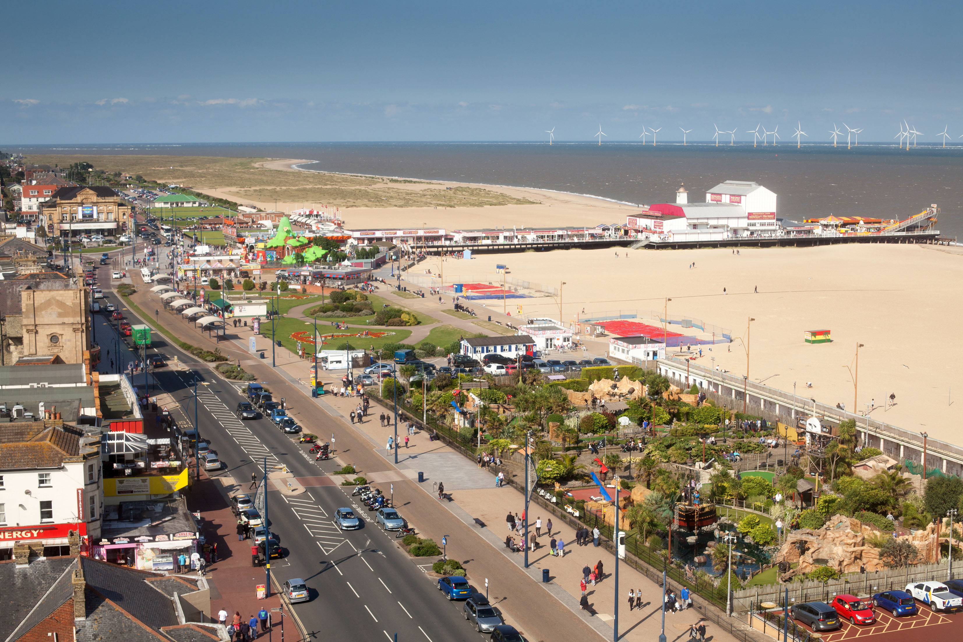 Great Yarmouth seafront showing miles of sandy beach © Great Yarmouth Borough Council