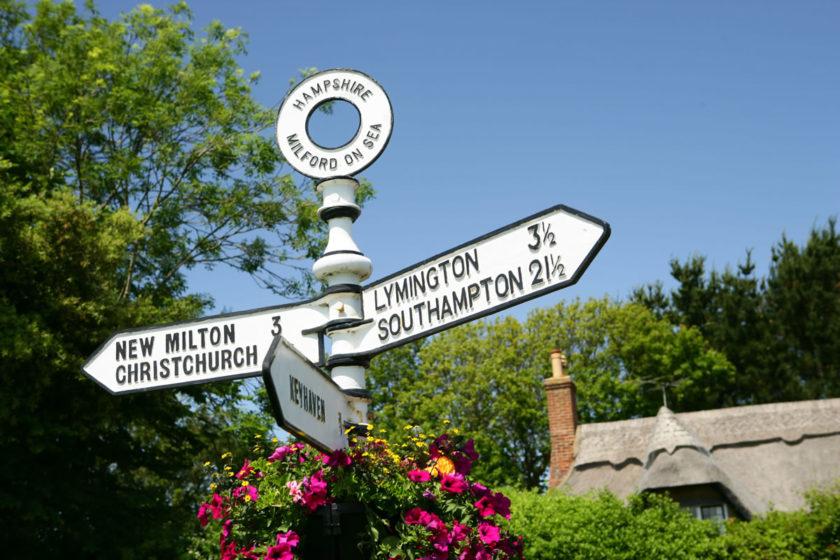 Signpost between Milford and Lymington © New Forest Destination Partnership.jpg