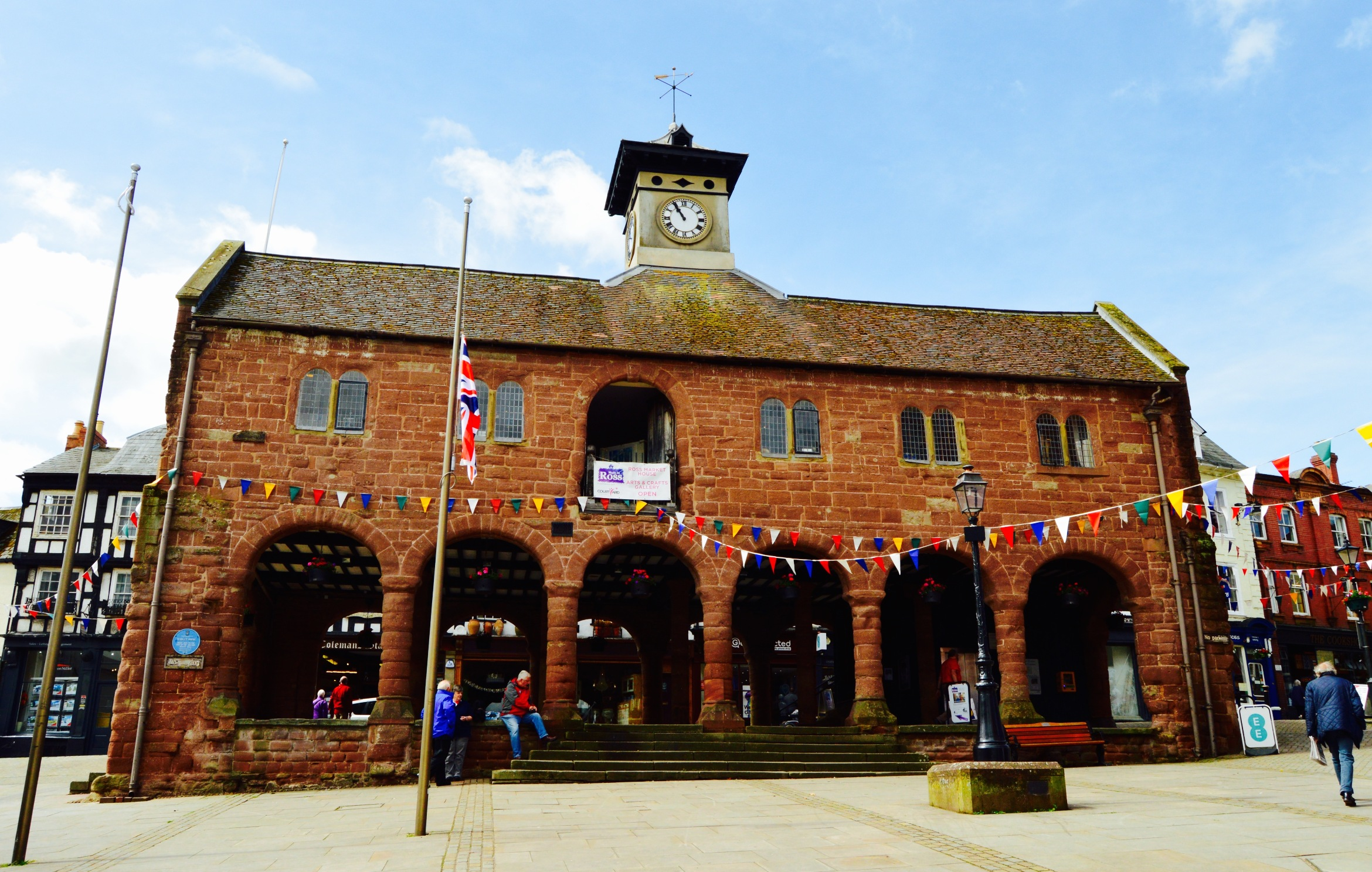 The traditional market house in Ross on Wye
