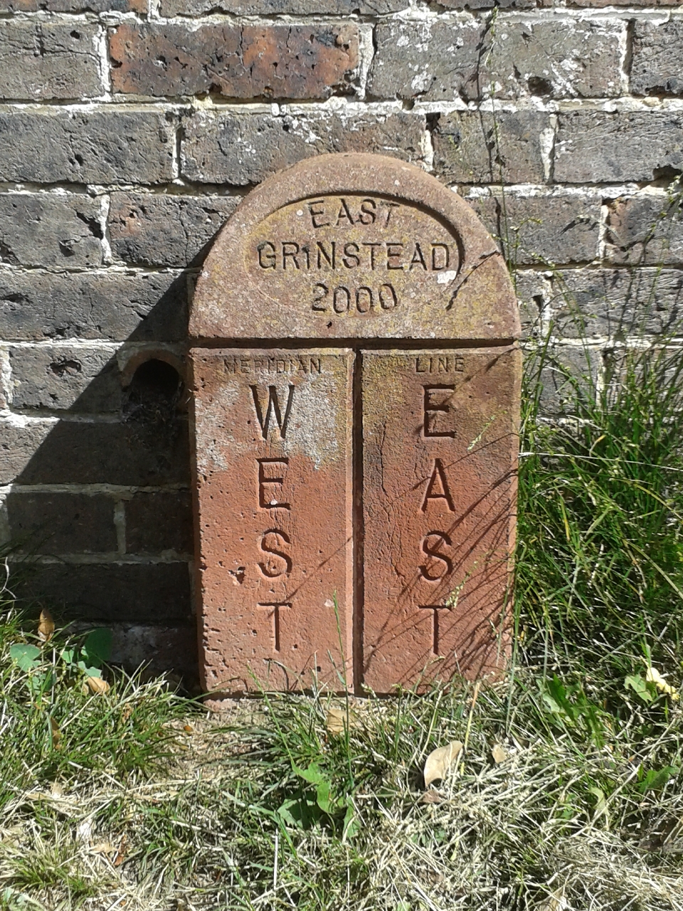 Marker stone showing Meridian Line © East Grinstead Town Promotions