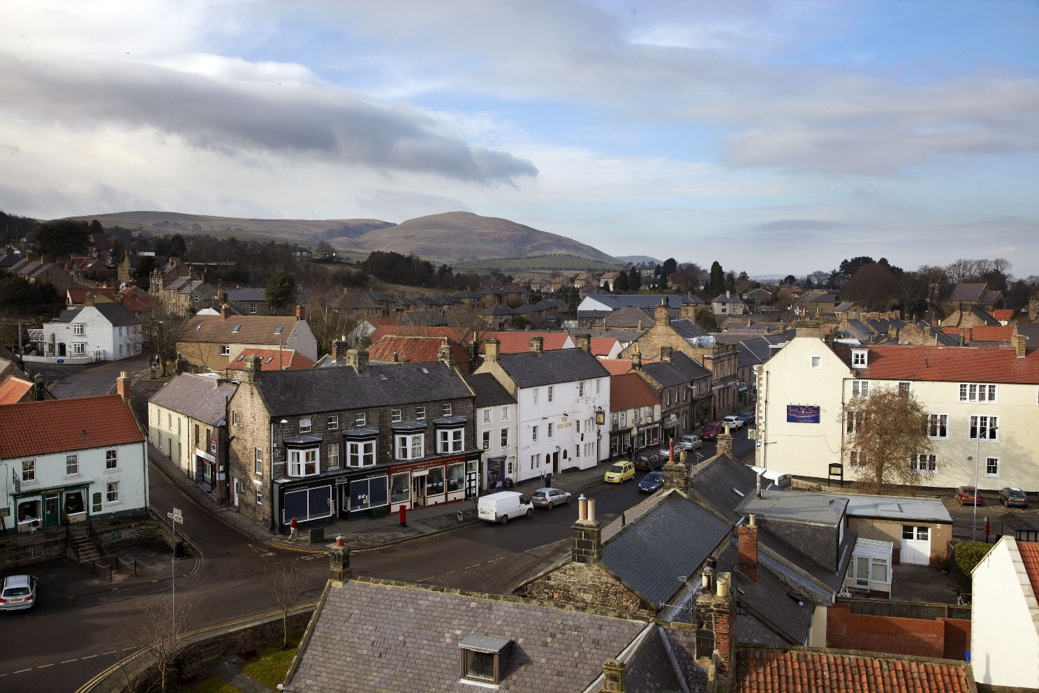 Wooler © www.visitnorthumberland.com with Cheviots behind