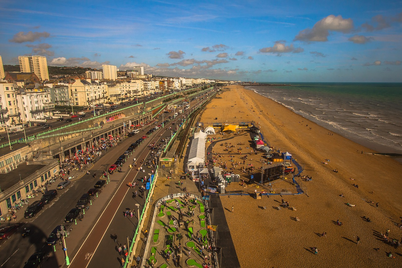 Brighton seafront by diego_torres on Pixabay