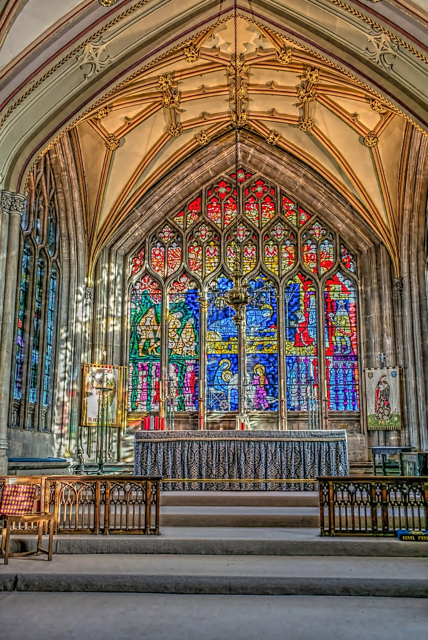 Stained Glass window at St Mary's Bristol © 54776875 on Pixaby