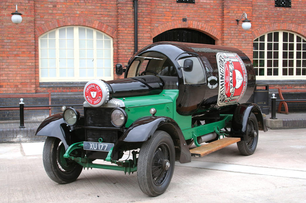 A bottled Vintage car at the national brewery museum