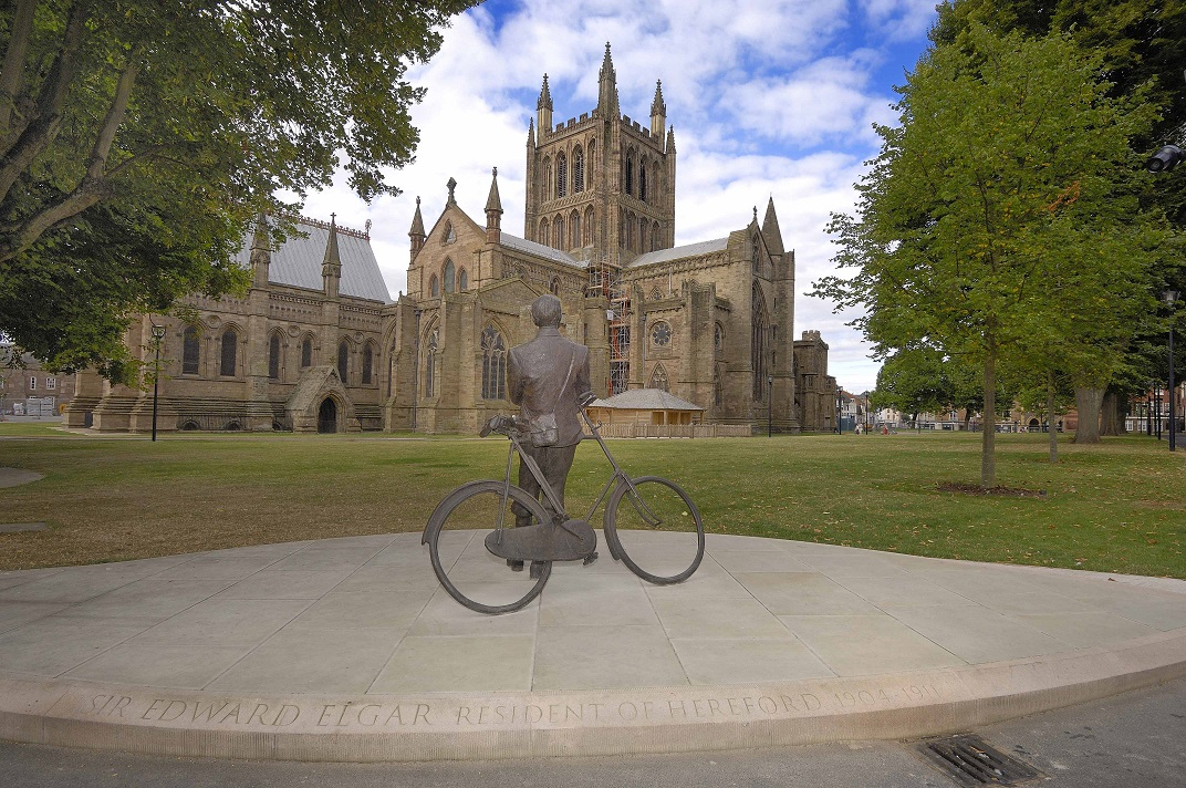 Sir Edward Elgar and Hereford Cathedral © Visit Herefordshire