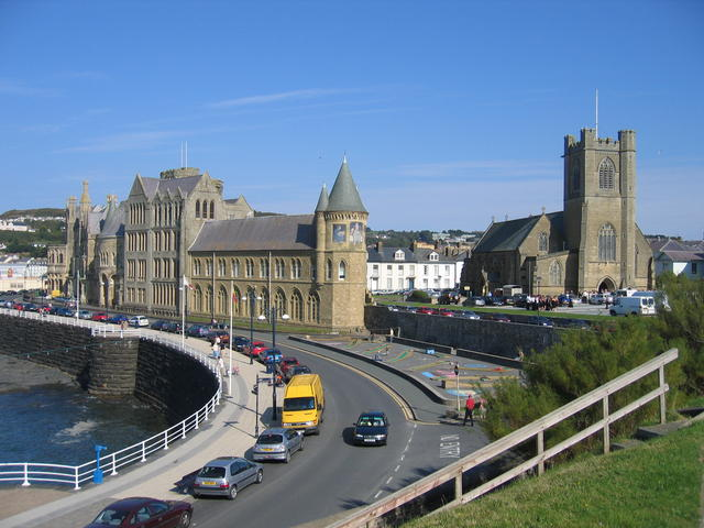 Aberystwyth University and St Michael's Church