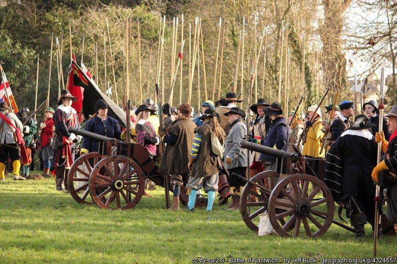 Sealed Knot re-enactment of the battle of Nantwich in 2015.