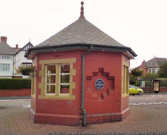 Tram shelter Lytham Gerald-England