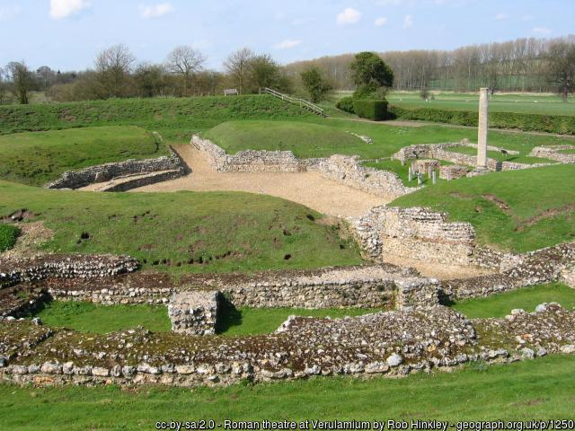 Verulamium, Roman amthitheatre in St Albans
