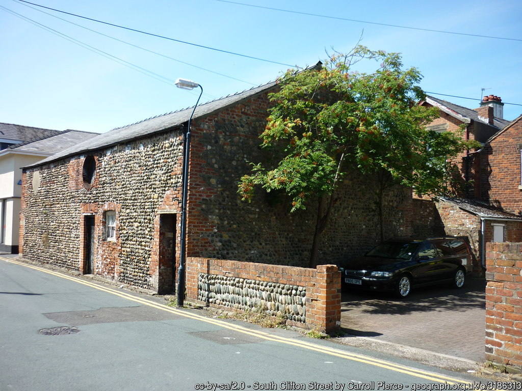 cobbled building Lytham by Carroll Pierce