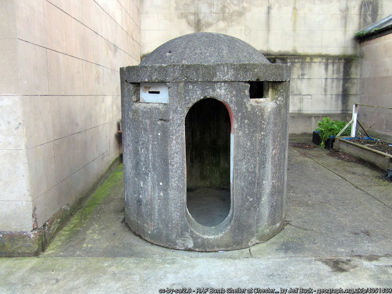 RAF bomb shelter at Chester