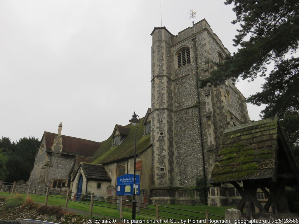 The ancient St Mary and St Nicholas Leatherhead by Richard-Rogerson