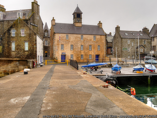 The Old Tollbooth Lerwick, Shetland by David Dixon