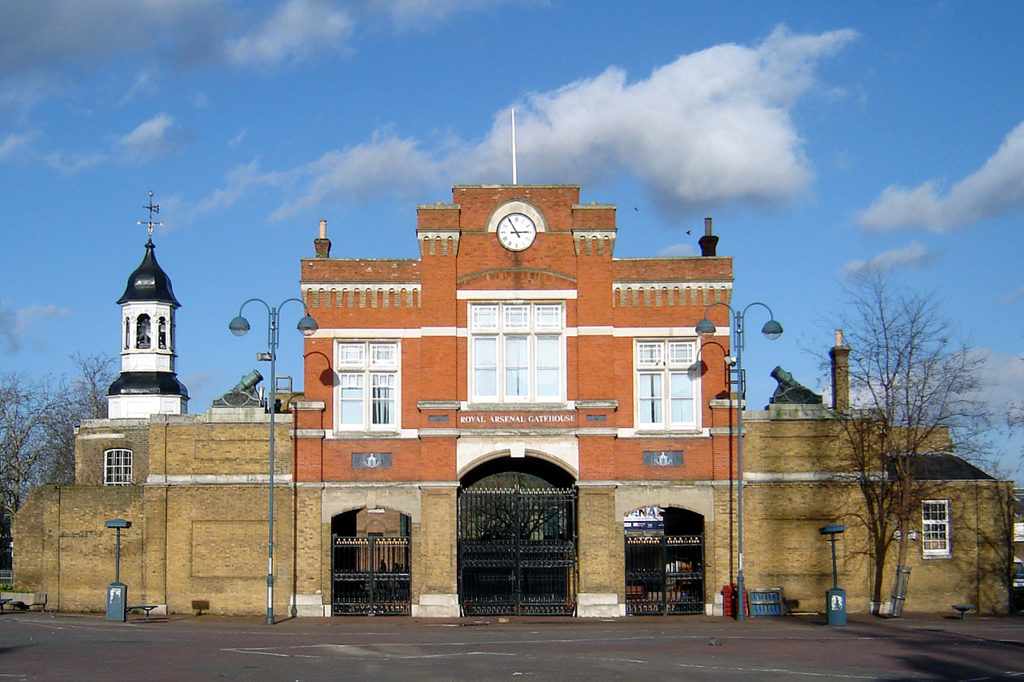 Woolwich royal arsenal gatehouse