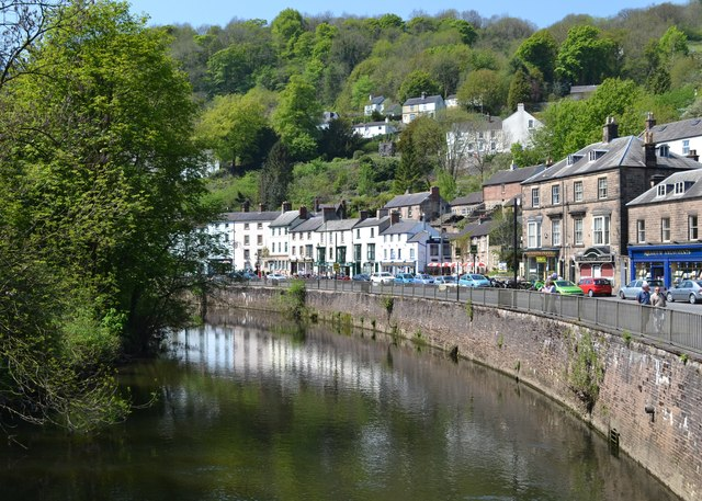Matlock Bath from Jubilee Bridge C Neil Theasby